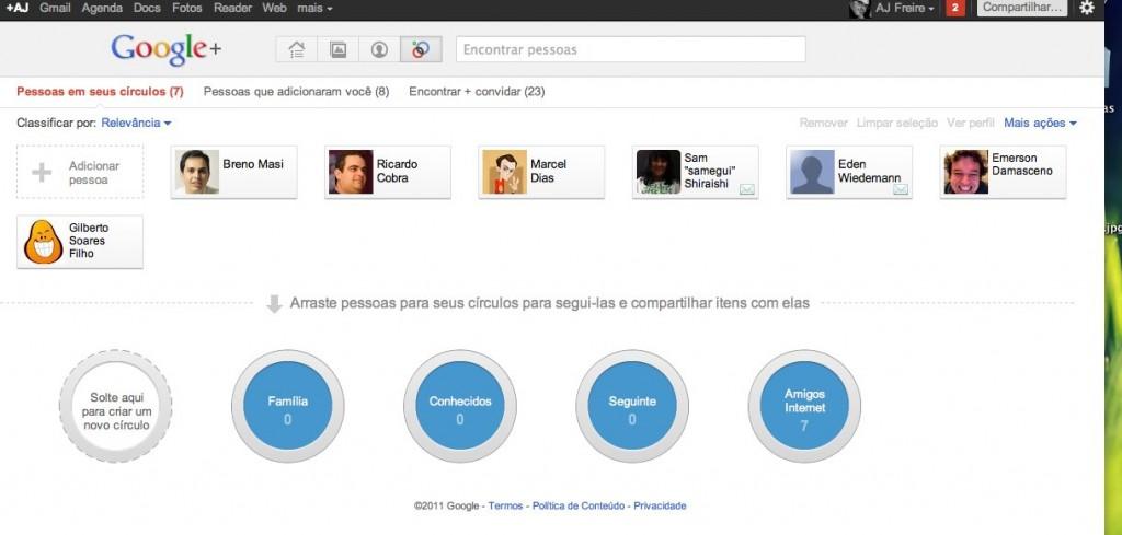 Círculos – Google+ google plus