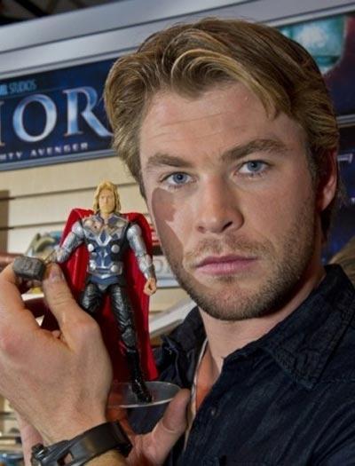 Chris Hemsworth with Thor