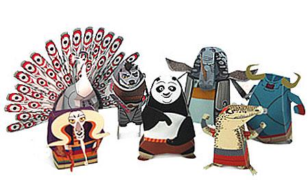 Kung Fu Panda 2 Papercraft nerd pai