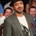 Robert Downey Jr. with Iron Man