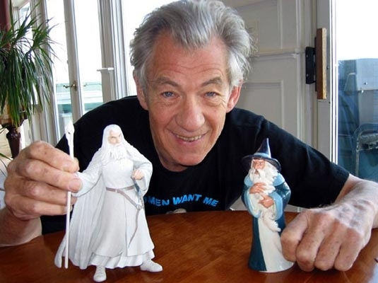 Sir Ian McKellen with Gandalf