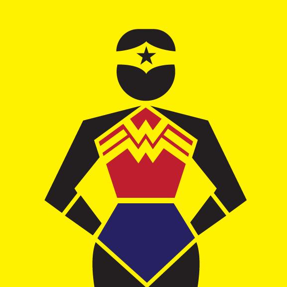 pictograma mulher maravilha