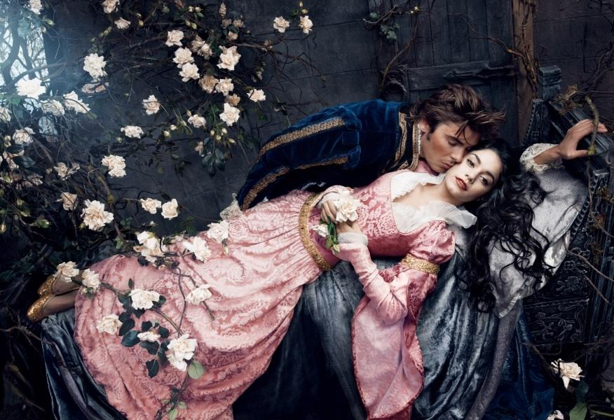 Vanessa Hudgens & Zac Efron as Princess Aurora & Prince Phillip