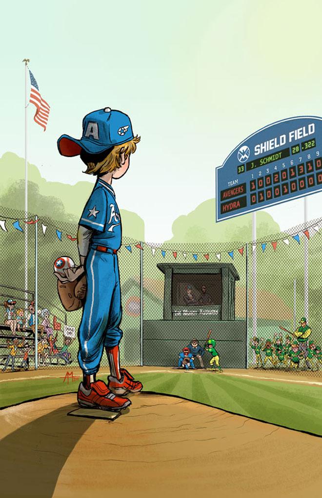 baseball capitao america