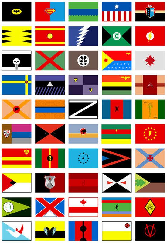 Bandeira de Super-Heróis