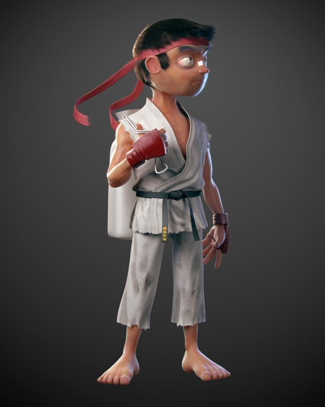 pixar street fighter 1