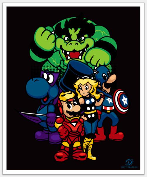 Mario Bros Avengers
