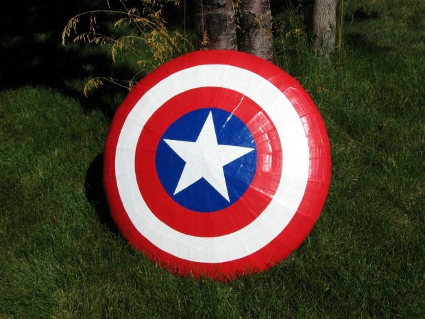how to make a captain america shield out of paper