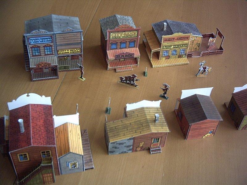 papercraft velho oeste