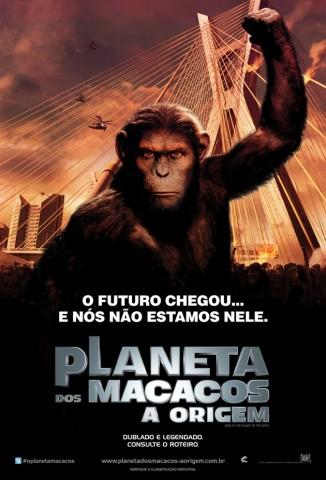 poster em sao paulo planeta dos macacos