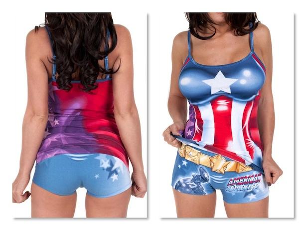 capitao america pijama