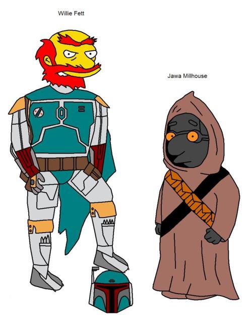 star wars - simpsons