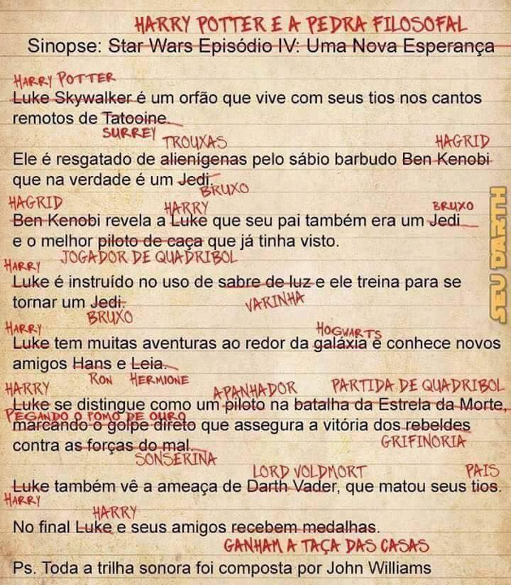 Star Wars e Harry Potter