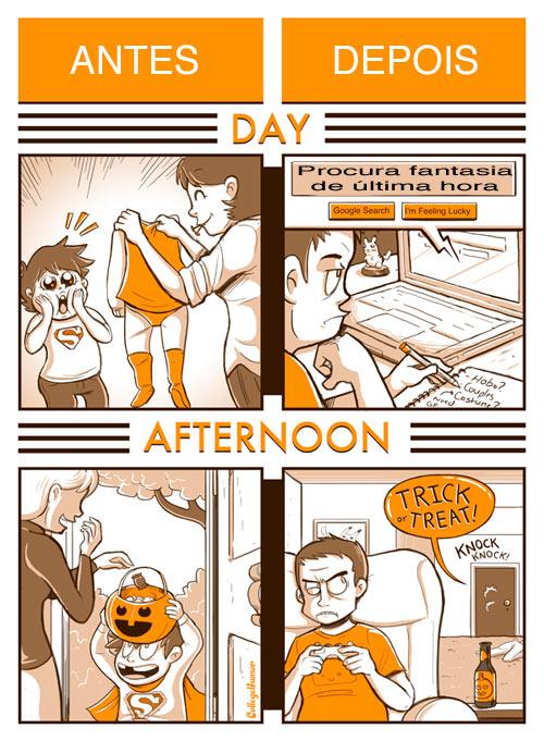 Antes e Depois - Halloween