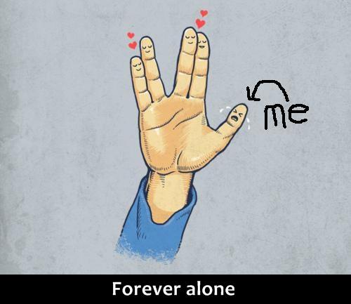 Cumprimento Vulcano Forever Alone