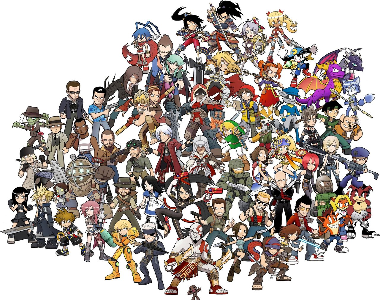 Todos heróis de videogame