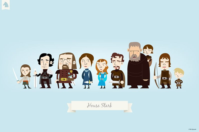 Um estilo diferente para Game of Thrones