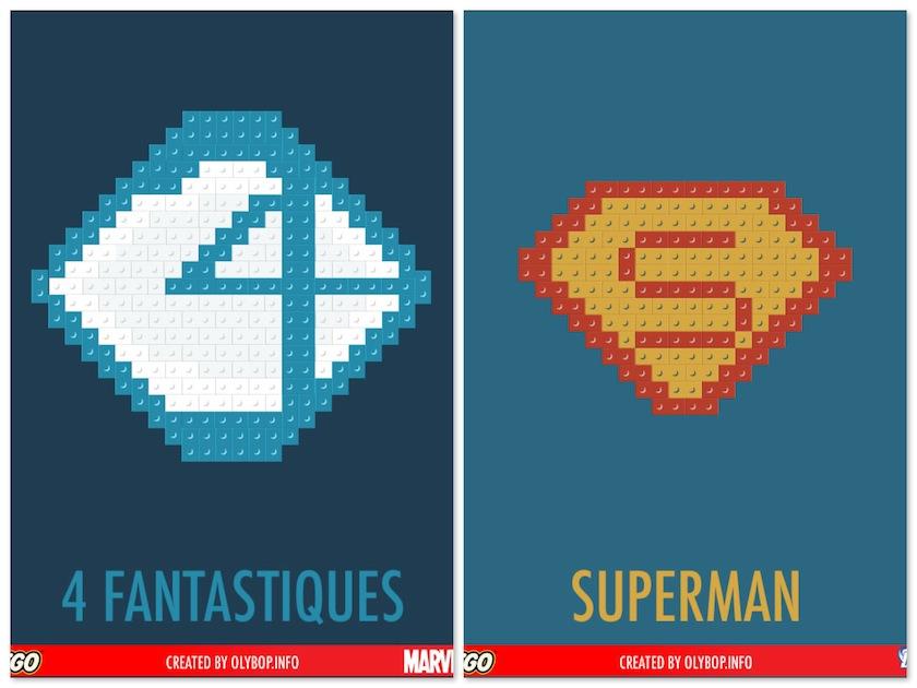 Poster Minimalistas com Lego
