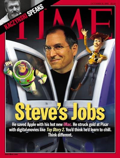 Steve Jobs e 07 capas da Times