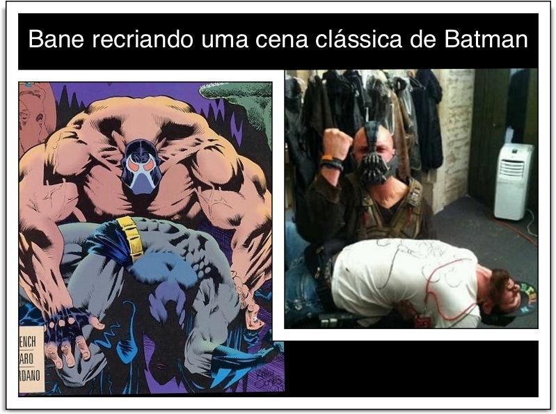 Bane recriando uma cena clássica de Batman (Taken with instagram)