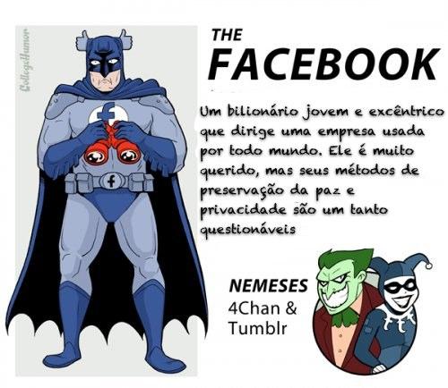 E se o Google, Facebook e Google+ fossem Super-Heróis