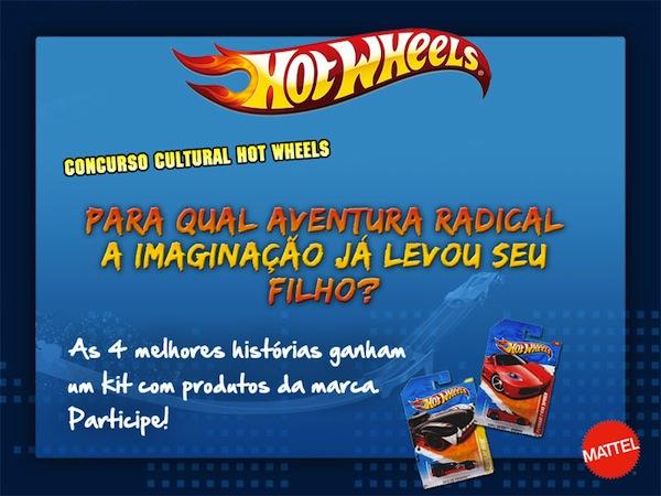 Para qual aventura radical a imaginação já levou seu filho - Promoção mattel hot wheels