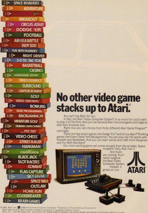 Poster - Atari com 40 cartuchos