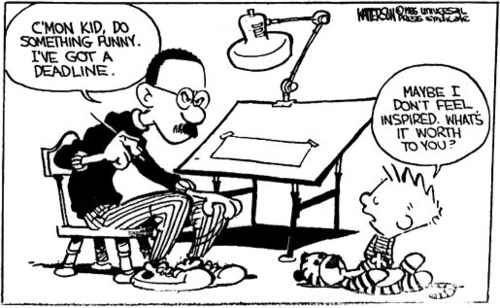 É era assim que o Bill Watterson criava as tirinhas do Calvin e Haroldo 1