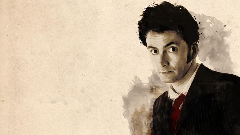 Dr. Who em aquarela