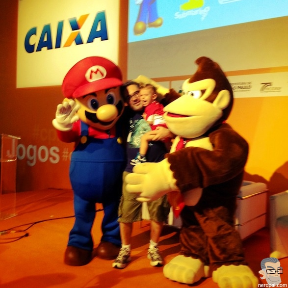 Padawan e Campus Party Mario Bros Donkey Kong