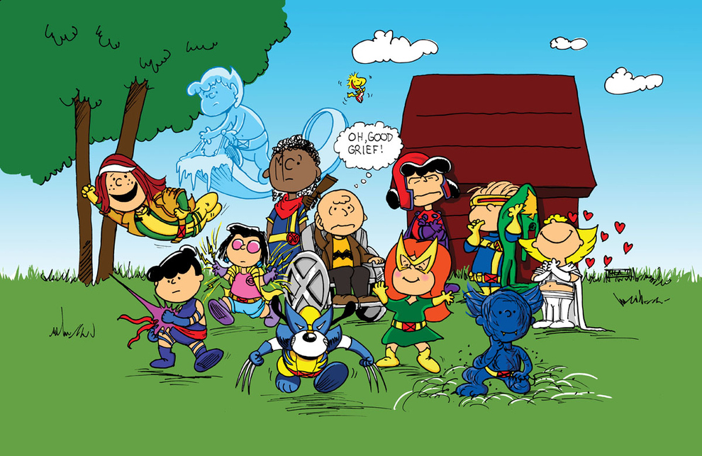 Mashup X-Men e Peanuts charlie-browns