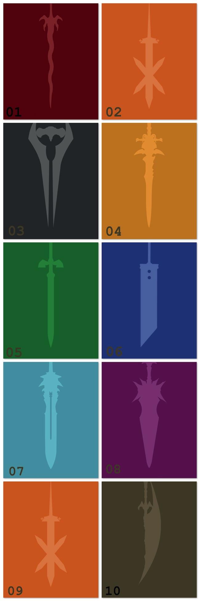 espadas video game nerd pai