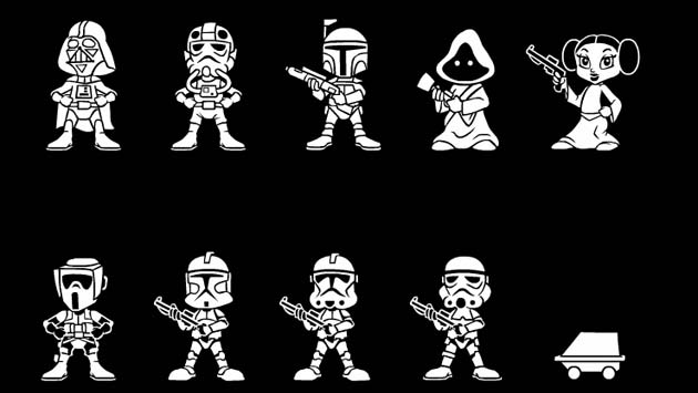 Adesivo Família Feliz - Star Wars