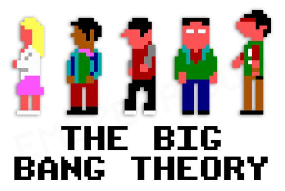 Big Bang Theory em 8 bits