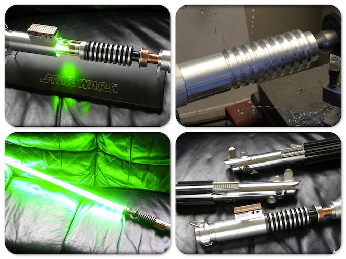 Bradley Lewis - Engenharia Geek sabre de luz star wars