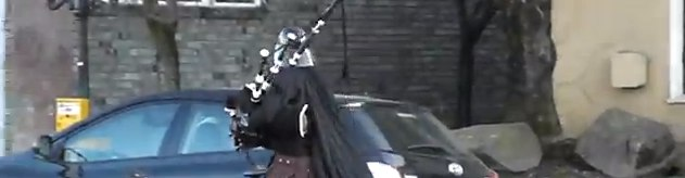 Darth Vader bagpipe unicycle