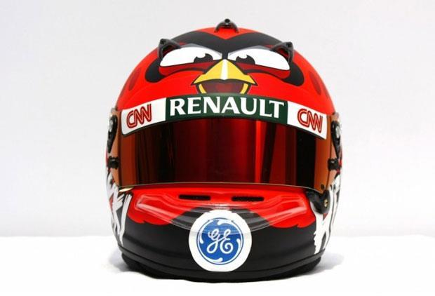 O novo capacete de Heikki Kovalainen - Angry Birds