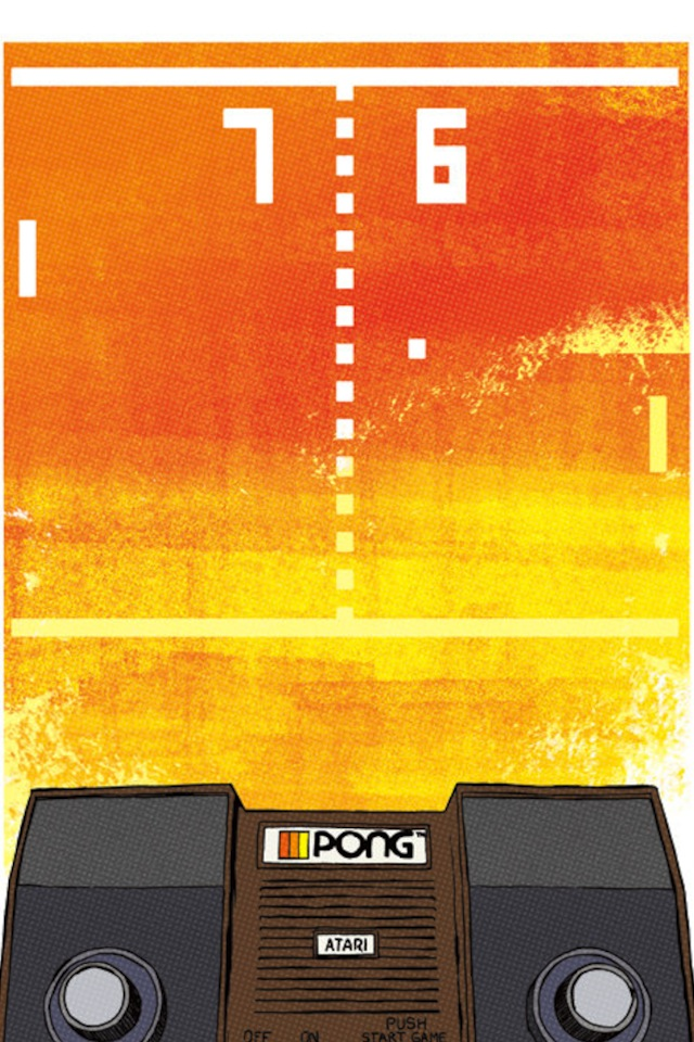 iPhone Wallpaper #6 – Videogame pong