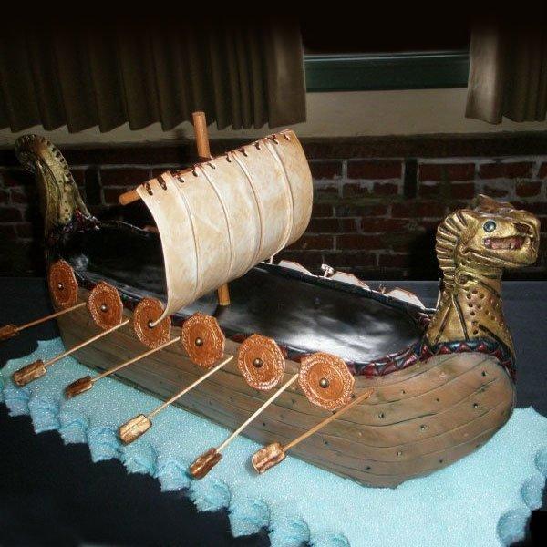 Barco Viking - bolo