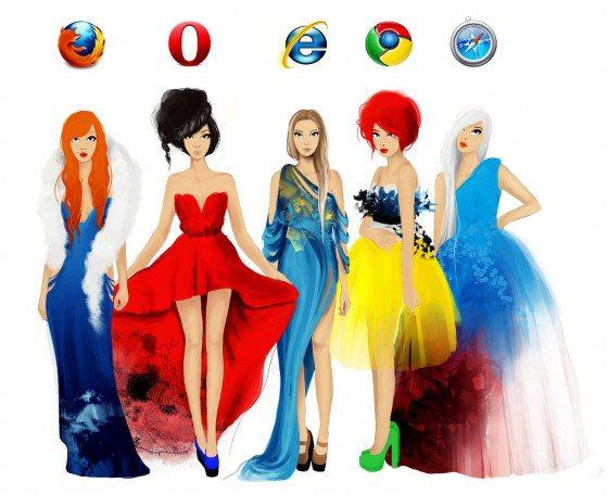 E se os navegadores fossem vestidos