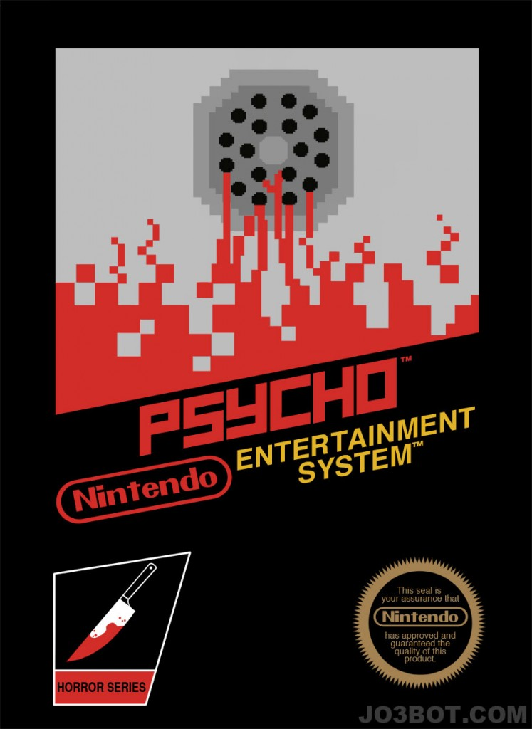 Hitchcock em 8 bits - Posters psicose