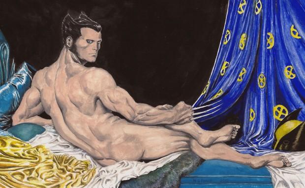 Odalisca, de Jean-Auguste Ingres com Wolverine