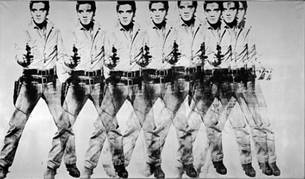 8 Elvis, de Andy Warhol com Flash
