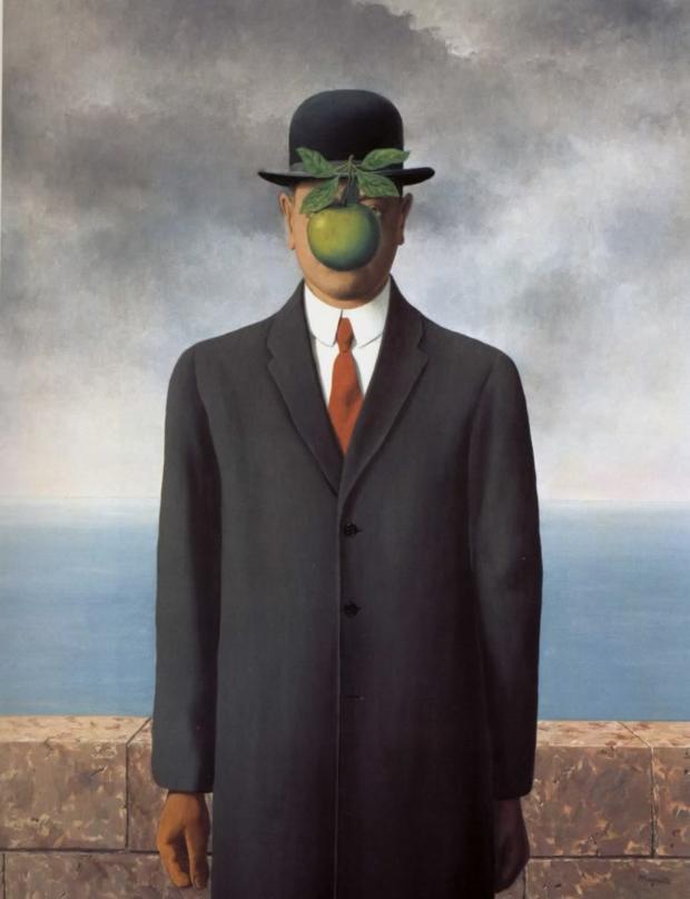 O Filho do Homem, de René Magritte com Power Girl