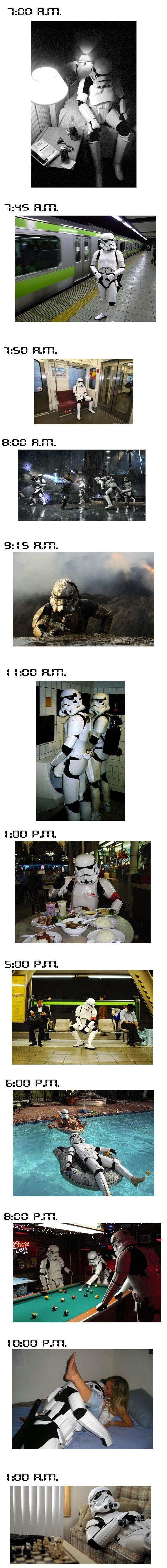 Um dia com um Stormtrooper