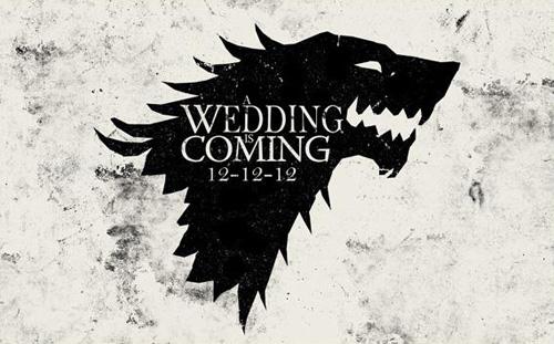 Convites de Casamento Nerd game of thrones