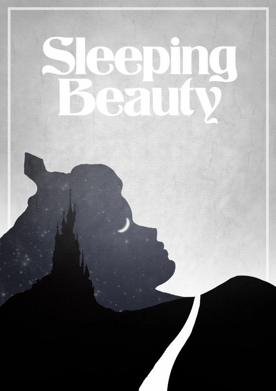 Poster Minimalistas Disney por Rowan Stocks Moore A bela ADormecida