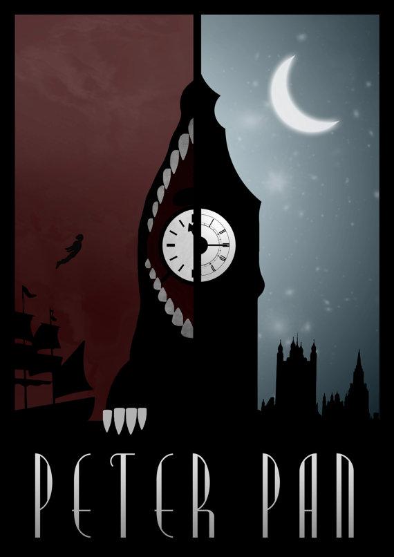 Poster Minimalistas Disney por Rowan Stocks Moore peter pan