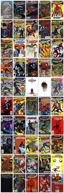 50-capas-spiderman aniversário