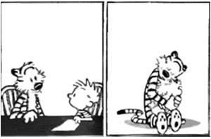A continuação da tirinha mais triste do Calvin e Haroldo